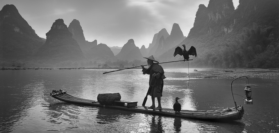 FIAP Ribbon – Yury Pustovoy – Russia – Fishermn on Li River